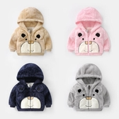 限定款鋪棉厚外套 嬰兒毛絨刷毛外套棉衣內刷毛保暖男童冬裝女童裝寶寶兒童加厚上衣U5569