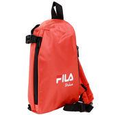 FILA 三角立體單肩包-橙色【愛買】