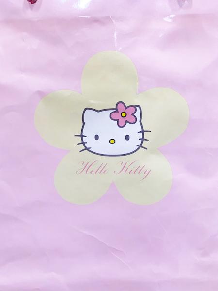 【震撼精品百貨】Hello Kitty 凱蒂貓~日本SANRIO三麗鷗KITTY紙袋/購物袋-粉花*49866