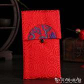 原創月半彎中國風春節布藝大紅包新年婚慶1萬元創意利是封 晴天時尚館