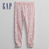Gap女幼童 布萊納系列 可愛印花鬆緊休閒褲 968906-粉色