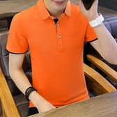 t恤男夏季韓版純棉保羅polo衫男裝體恤潮流襯衫領v領翻領男士短袖 黛尼時尚精品