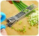 【蔥花剪】不銹鋼五層剪刀 切蔥剪 5層碎紙剪 辣椒海苔料理剪 美工勞作