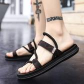 拖鞋男士2020新款夏季個性室外沙灘涼鞋男鞋韓版潮流時尚外穿涼拖 蘿莉小腳丫