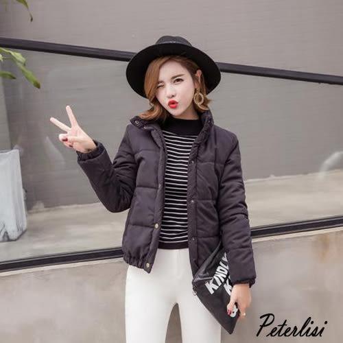 韓版羽絨棉服顯瘦純色立領棉服 777A 彼得麗絲