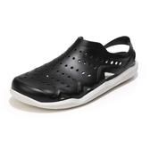 包頭洞洞鞋男潮流防滑軟底拖鞋夏季男士沙灘鞋新款大頭涼鞋潮