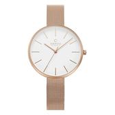 OBAKU 經典俐落現代女性腕錶-玫瑰金-V211LXVIMV