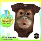 【摩達客】(預購)美國進口The Mountain 可愛猩猩臉 精梳純棉嬰幼兒短袖包屁衣