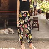 寬管褲 泰國新款闊腿寬鬆沙灘燈籠褲夏海邊度假親子兒童休閒花女褲舞蹈服