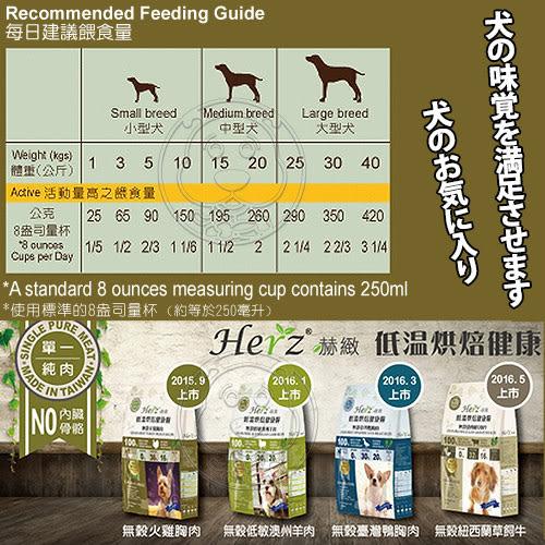 【培菓平價寵物網】 Herz赫緻》低溫烘焙健康狗糧-無穀火雞胸肉-908g