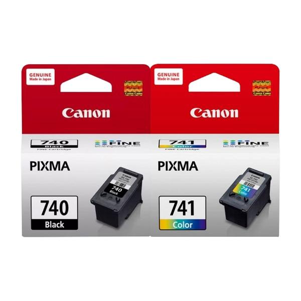 【一黑一彩組合】CANON PG740+CL741 原廠墨水匣 盒裝 適用MG3170 MG3570 MG3670 MX477 MX397