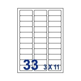 Unistar 裕德3合1電腦標籤紙 (62)UH2467 33格 (100張/盒)