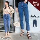 特價【A04200168】Y自訂款彈性抽鬚牛仔長褲S-XL藍
