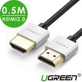 現貨Water3F綠聯 0.5M HDMI2.0傳輸線 Zinc alloy