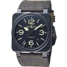 Bell & Ross 經典時尚飛行械機腕錶 BR0392-BL3-CE/SCA