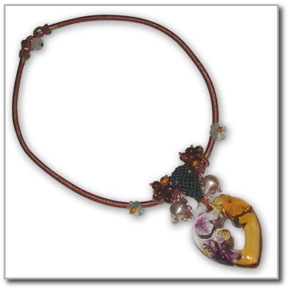 鹿港窯~居家開運琉璃 珠寶 項鍊~心花怒放◆附精美包裝‧免運費送到家
