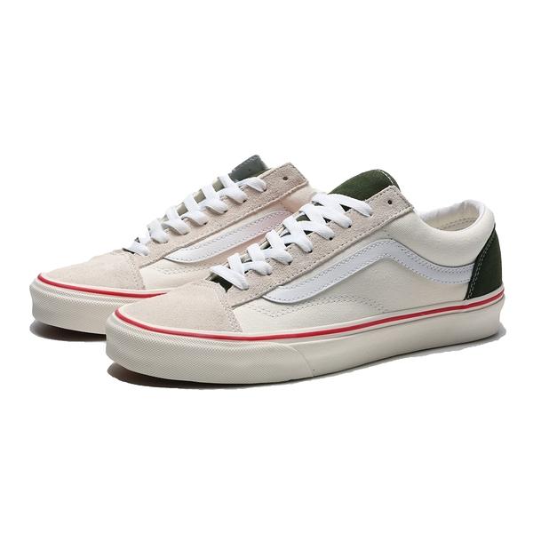 VANS 休閒鞋 STYLE 36 米白 綠 紅邊 麂皮 男女(布魯克林) VN0A5FBM2TZ