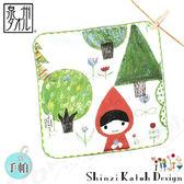 【クロワッサン科羅沙】日本毛巾~加藤真治故事系列~小紅帽森林手帕 23*23cm