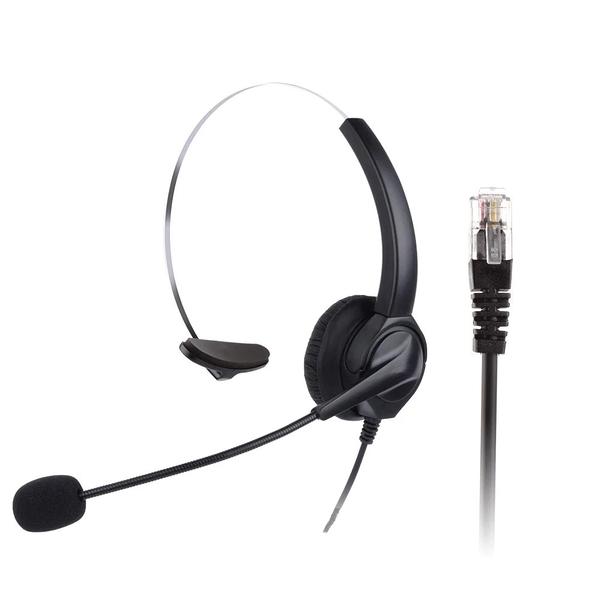 單耳電話耳機麥克風 安立達電話耳機 CID70 DKP51W KP70 HEADSET PHONE 客服電話0228851113