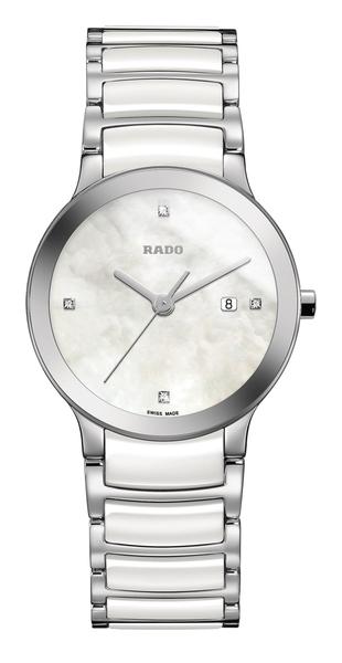 RADO Centrix晶萃系列-R30928902-原廠公司貨/28mm/白陶