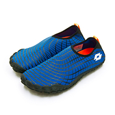 LIKA夢 LOTTO 多用途戶外休閒運動溯溪機能護趾水鞋 AQUWEAR系列 藍黑 0906 附收納袋 男