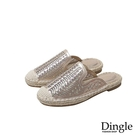 Dingle丁果ღ手工包鞋網紗水鑽平底漁夫鞋懶人鞋(二色35-43)