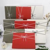 新年禮盒 韓式禮品盒相框禮盒大號圍巾盒衣服包裝簡易生日禮物盒 nm17868【甜心小妮童裝】
