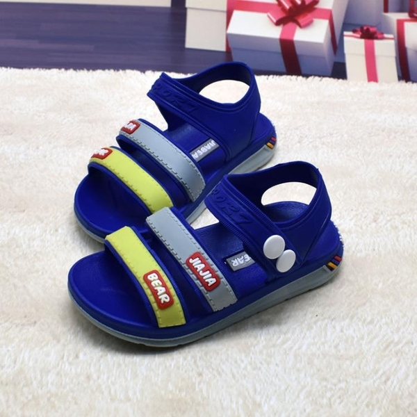 2020夏季男童涼鞋小童塑料沙灘鞋時尚軟底寶寶童鞋果凍運動鞋