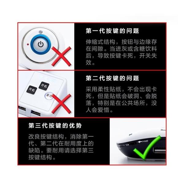 桌面電腦開關網咖網吧主機USB防水