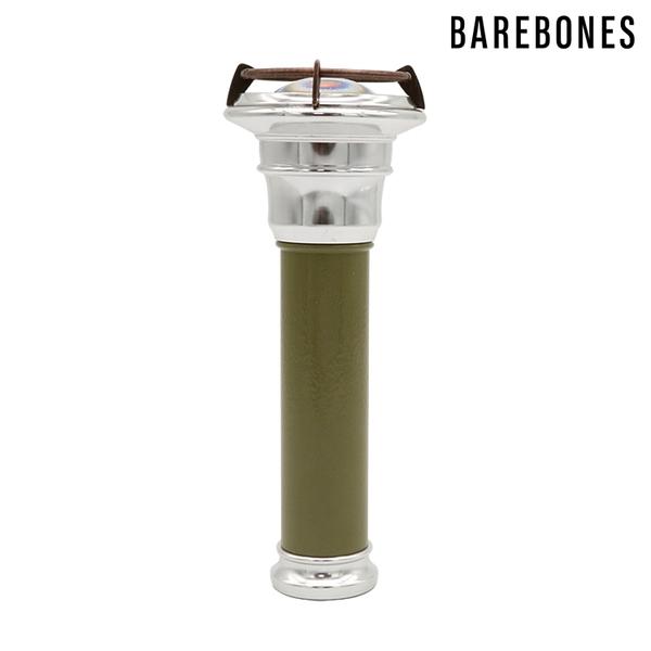 Barebones 手電筒 Vintage Flashlight LIV-290 橄欖綠 / 城市綠洲 (露營燈 燈具 戶外照明 USB充電 照明設備)