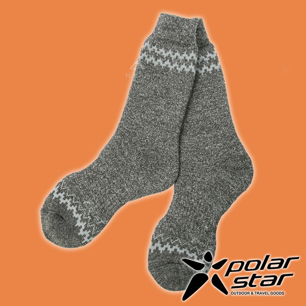【PolarStar】羊毛保暖雪襪『炭灰』P19609 露營.戶外.登山.羊毛襪.保暖襪.彈性襪.休閒襪.長筒襪.襪子