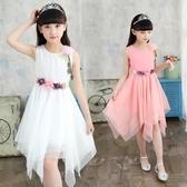 女童禮服 5女童網紗連身裙子6春裝夏季3-12歲7小女孩燕尾10公主裙禮服
