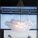 北歐現代設計藝術泡泡球 珍珠磨砂玻璃 餐廳燈 魔豆 個性客廳極簡吊燈 ---小號