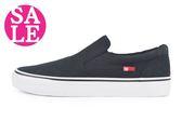 DC休閒板鞋 男鞋 現貨 鬆緊帶套式休閒鞋 零碼出清 H9439#黑◆OSOME奧森童鞋