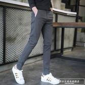 褲子男夏季新款男士休閒褲男小腳長褲韓版潮流青少年運動男褲『韓女王』
