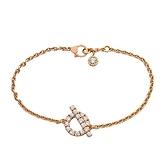 HERMES 愛馬仕 18K玫瑰金鑲0.55ct鑽船錨造型手鏈 Finesse Bracelet【BRAND OFF】