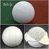 85折【優選】學生專用球小清新柔軟硬排純白色軟式排球軟開學季