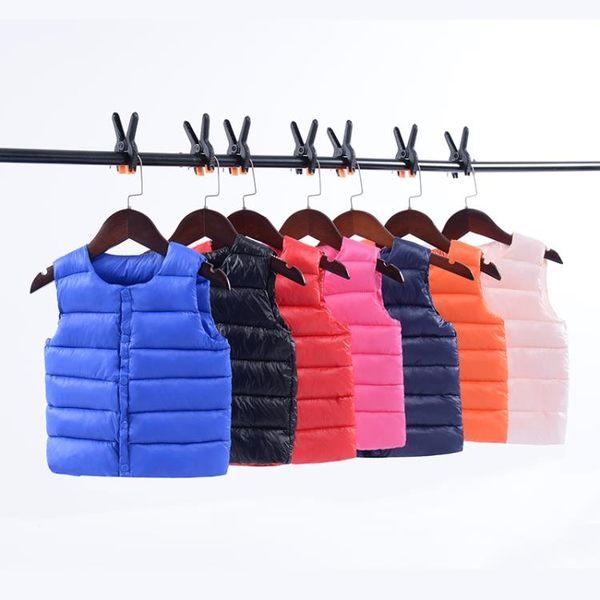 秋冬季童裝兒童羽絨棉馬甲外套小童輕薄保暖男女寶寶嬰兒內膽背心 任選一件享八折