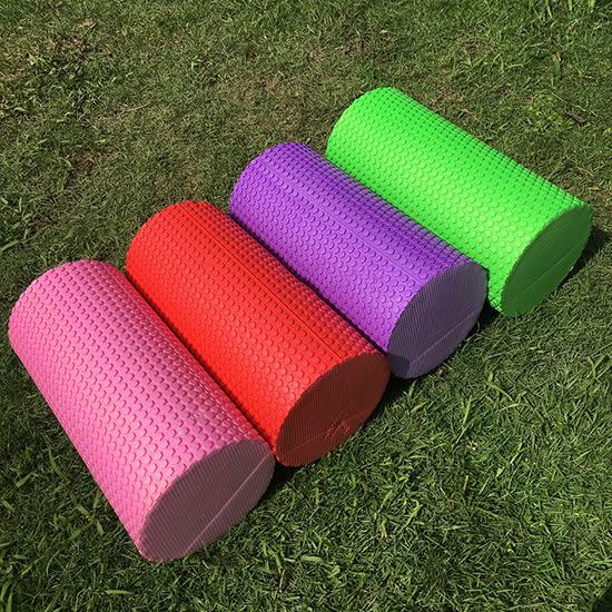 ♚MY COLOR♚六角壓紋瑜珈柱 30CM 浮點 滾軸 泡沫軸 瑜伽 皮拉提斯 平衡棒 EVA 滾筒【P502】