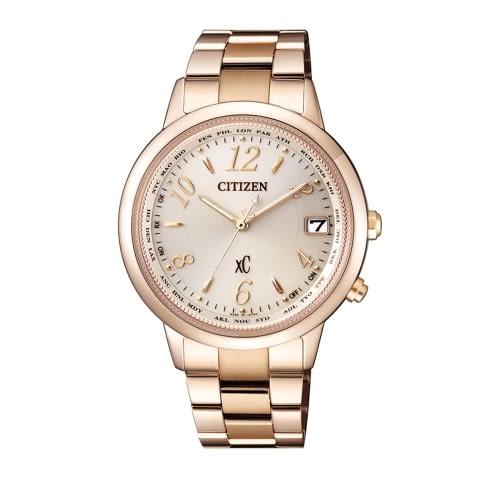 CITIZEN XC 優雅甜美電波腕錶/CB1105-53B