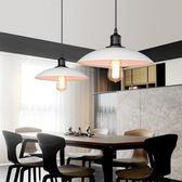 工業風經典黑白圓盤單吊燈 TA8376