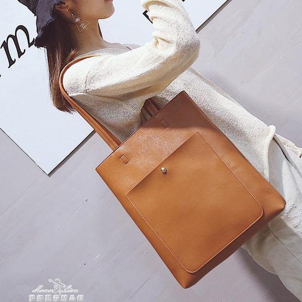 大包包女潮托特包學生簡約百搭大容量韓版休閒單肩手提包『夢娜麗莎精品館』