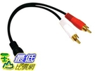 [105美國直購] 電纜線 2 x RCA Male, 1 x 3.5mm Stereo Female, Y-Cable 6-Inch 30S1-01260