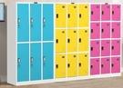收納櫃彩色更衣櫃員工儲物櫃健身房存包櫃鐵皮寄存櫃帶鎖浴室換衣存放櫃