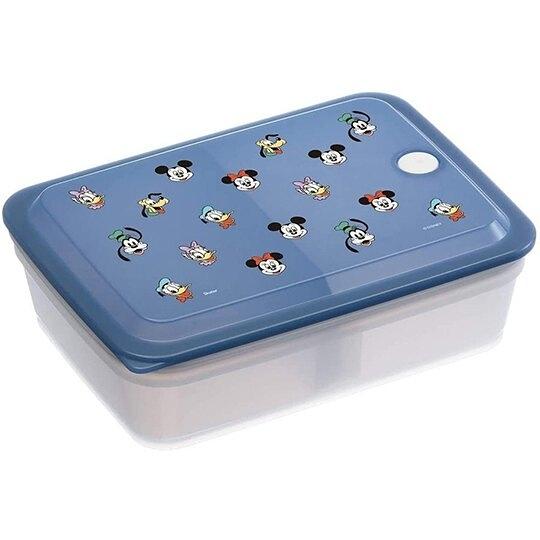 小禮堂 迪士尼 日製 方形微波保鮮盒 抗菌保鮮盒 便當盒 850ml Ag+ (藍 大臉) 4973307-51911