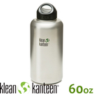 【KLEAN KANTEEN 美國 寬口不鏽鋼瓶64oz(54mm)《原色鋼》】K64WSSL/水壺/水瓶/運動鋼瓶