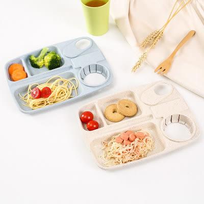 【全館5折】WaBao 小麥纖維列分格餐盤 可微波 可放水杯 營養午餐 便當盒 有杯架 =109567=