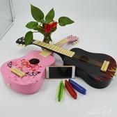 25寸彩色木質卡通兒童玩具吉他可彈奏仿真兒童樂器早教音樂玩具 TA7179【極致男人】