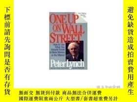 二手書博民逛書店英文罕見One Up on Wall Street 彼得林奇Y2
