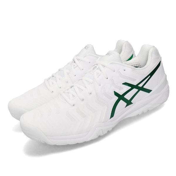 【六折特賣】 Asics 網球鞋 Gel-Resolution Novak 白 綠 男鞋 運動鞋 【PUMP306】 E805N100